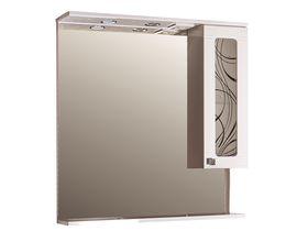 Зеркало с подсветкой и шкафчиком Альфа Кристалл