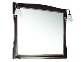 Зеркало с подсветкой темного цвета Модена 85/105