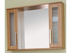 Зеркало Polo в ванную с двумя шкафчиками