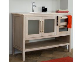 Тумба 2-дверная Polo для ванной, 2 ящика с нишей