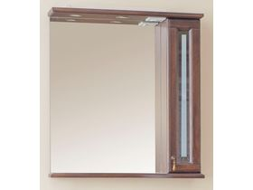 Темное зеркало с подсветкой в ванную Валенсия