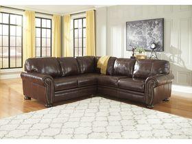 Угловой модульный диван из кожи Banner