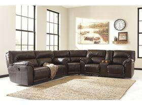 Угловой модульный диван из экокожи Barrettsville DuraBlend®