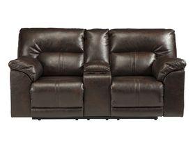 Двухместный диван с консолью и реклаинером Barrettsville DuraBlend®