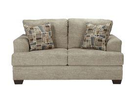 Двухместный диван из ткани Barrish