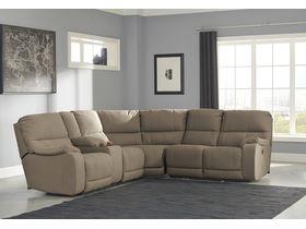 Угловой диван Bohannon с реклаинером - Taupe