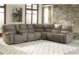 Угловой модульный диван Bohannon с реклаинером - Taupe