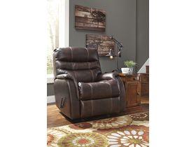 Кожаное кресло Bridger с реклаинером