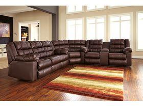 Угловой диван из экокожи Brolayne DuraBlend® - Saddle