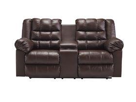 Двухместный диван из экокожи Brolayne DuraBlend® - Saddle