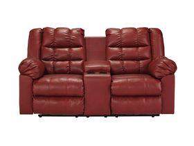 Двухместный диван из экокожи Brolayne DuraBlend® - Garnet
