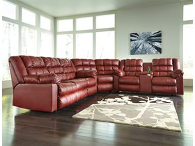 Угловой диван из экокожи Brolayne DuraBlend® - Garnet
