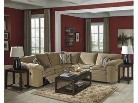 Угловой диван Coats с реклаинером