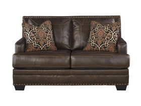 Двухместный кожаный диван Corvan