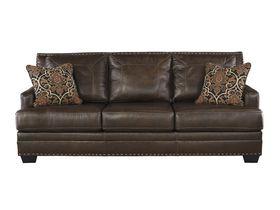 Трехместный кожаный диван Corvan