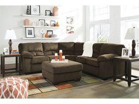 Угловой диван из ткани Dailey - Chocolate