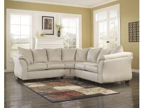 Угловой диван из ткани Darcy - Stone