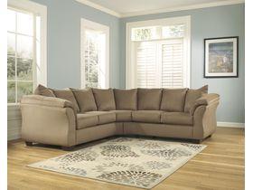 Угловой диван из ткани Darcy - Mocha