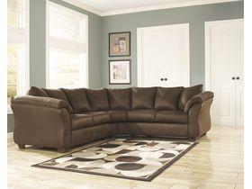 Угловой диван из ткани Darcy - Cafe
