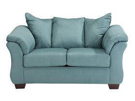 Двухместный диван из ткани Darcy - Sky