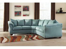 Угловой диван из ткани Darcy - Sky