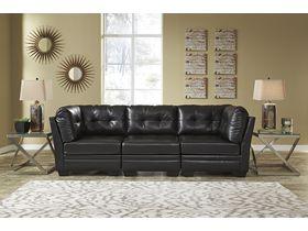 Модульный трехместный диван Khalil DuraBlend® - Black