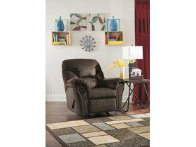 Кресло из ткани Kinlock с реклаинером - Chocolate