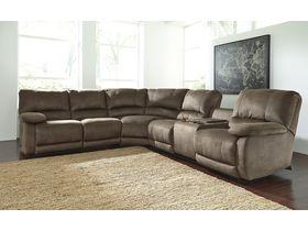 Угловой диван премиум класса Seamus с реклаинером