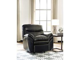 Кресло из экокожи Tassler с реклаинером - Black