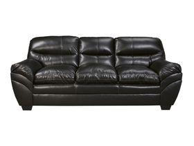 Трехместный диван из экокожи Tassler - Black