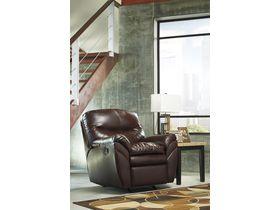 Кресло из экокожи Tassler с реклаинером - Mahogany