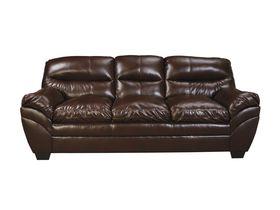 Трехместный диван из экокожи Tassler - Mahogany