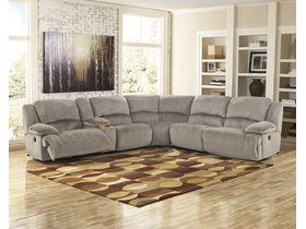 Угловой диван Toletta с реклаинером (Композиция 1) - Granite