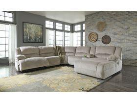Угловой модульный диван Toletta с реклаинером - Granite