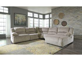 Угловой диван Toletta с реклаинером (Композиция 2) - Granite