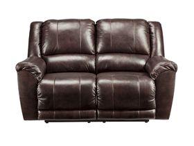 Кожаный двухместный диван Yancy с реклаинером