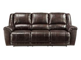 Кожаный диван Yancy с реклаинером