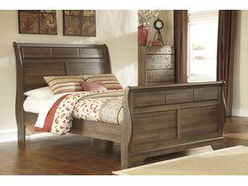 """Кровать двуспальная в светлых тонах из шпона дуба """"Allymore"""""""
