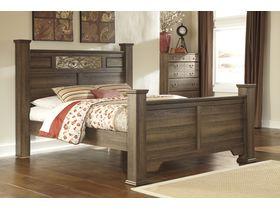 """Кровать двуспальная c ножками из шпона дуба """"Allymore"""""""