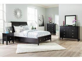 """Спальня из древесины лиственных пород  в черном цвете """"Braflin"""""""