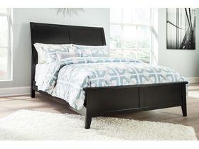 """Кровать из древесины лиственных пород  в черном цвете """"Braflin"""""""