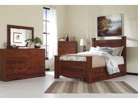 """Кровать двуспальная из шпона вишни с ящиками """"Brittberg"""""""