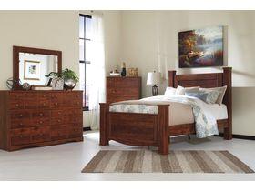 """Кровать двуспальная из шпона вишни с декоративными ножками """"Brittberg"""""""