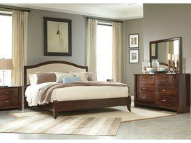 """Кровать двуспальная из шпона вишни в традиционном стиле """"Corraya"""""""