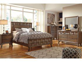 """Спальня из шпона белого дуба в необычном дизайне  """"Debeaux"""""""