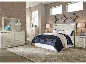 """Спальня в светлых тонах с глянцевыми элементами """"Dreamur"""""""