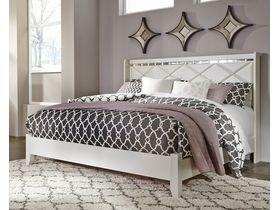 """Кровать в белой цветовой гамме с глянцевыми элементами """"Dreamur"""""""