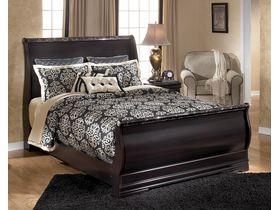 """Кровать двуспальная из шпона красного дерева """"Esmarelda"""""""