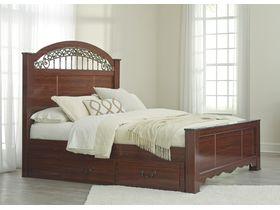 """Кровать двуспальная c з ящиками из шпона вишни """"Fairbrooks Estate"""""""