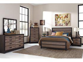 """Спальня в темных тонах из шпона дуба в необычном дизайне """"Harlinton"""""""